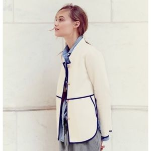J. Crew Tipped Twill Off-white Spring Jacket